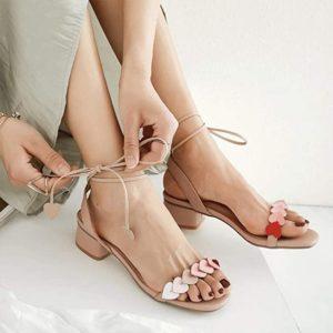 sandalias de corazones