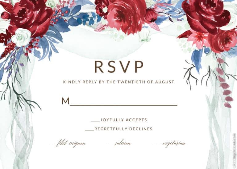 RSVP de la invitacion de boda