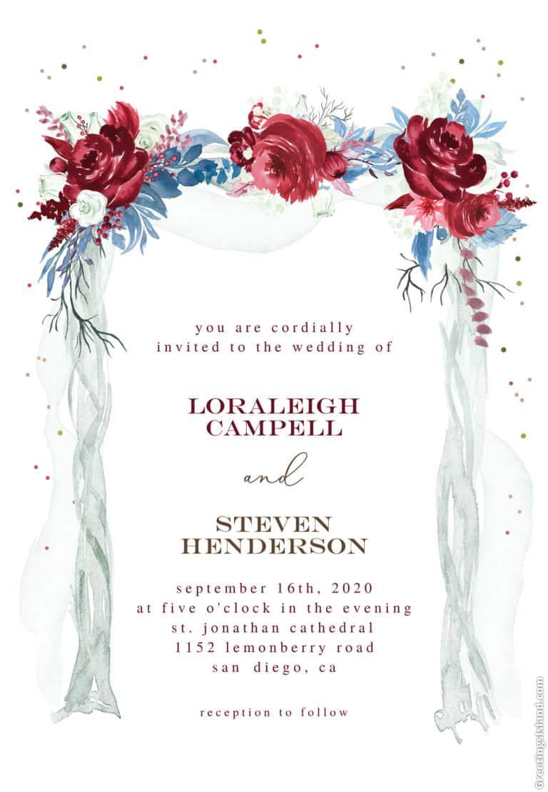 plantilla de invitacion de boda