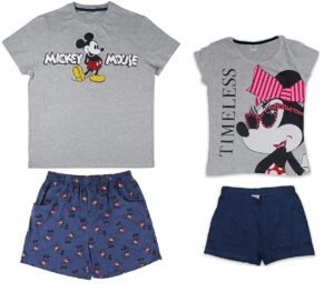 pijamas de parejas de mickey y minnie