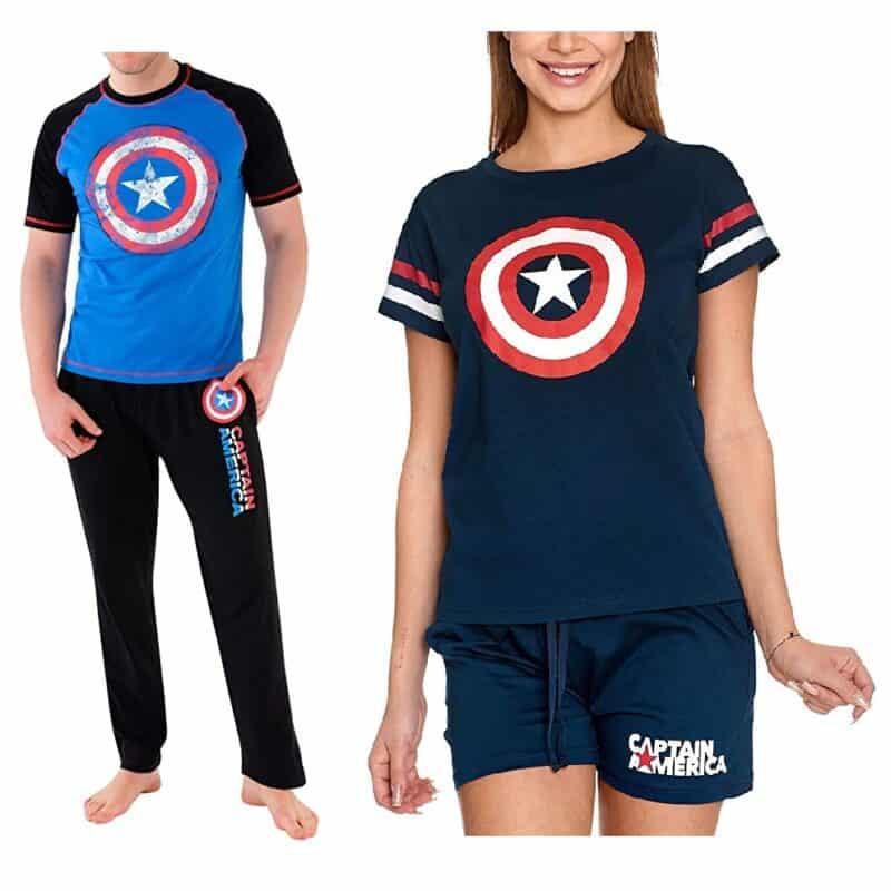 pijamas para parejas del capitan america
