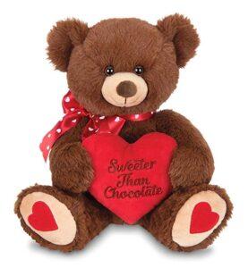 kinrex I Love You mamá oso – blanco con mensaje rojo almohada – Big oso de peluche
