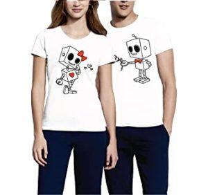 camisetas de parejas de robositos