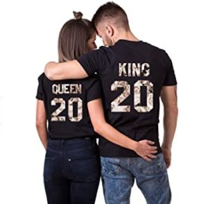 camisetas para parejas king and queen