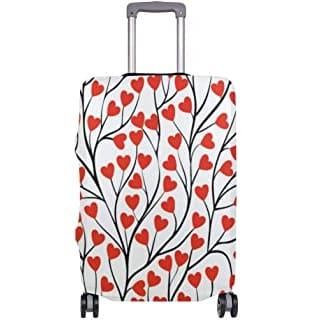 maleta con arbol de hojas de corazones