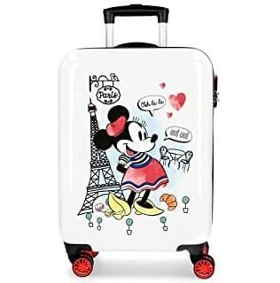 maleta con minnie en paris y corazones