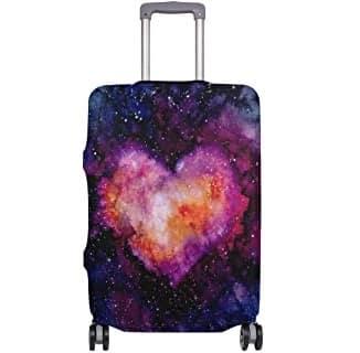 maleta de galaxia en forama de corazon