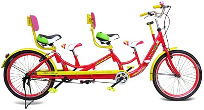 bicicleta familiar para 4 personas