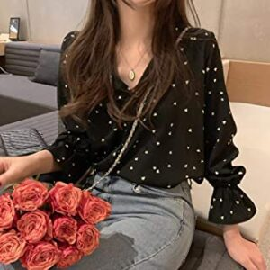 Blusa de corazones negra