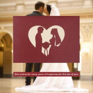 bodas postales de corazones