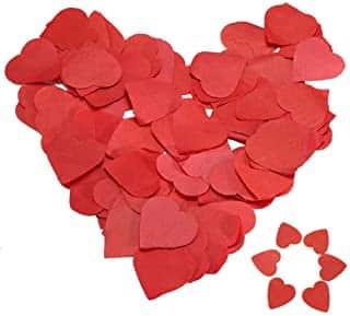 confeti rojo de corazones