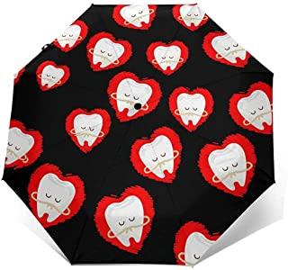 dientes con forfa de corazon paraguas
