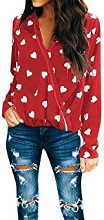 estampado blusas de corazon