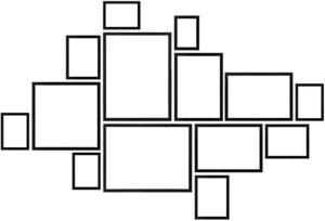 estructura marco de fotos familiares