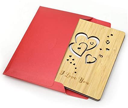 hermosa postal de corazones romantica