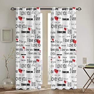 hermosas cortinas de corazones y frases