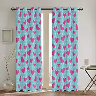 lindas cortinas de corazones