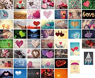 originales postales de corazones