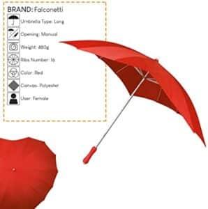 paraguas en forma de corazon