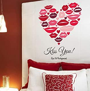 pegatinas de corazones pared salon