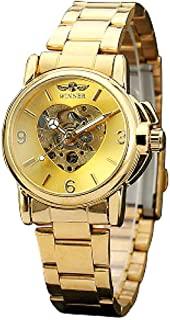 reloj corazon dorado
