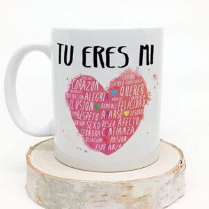 taza rosa