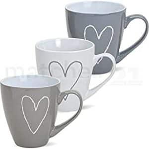 tazas de corazones