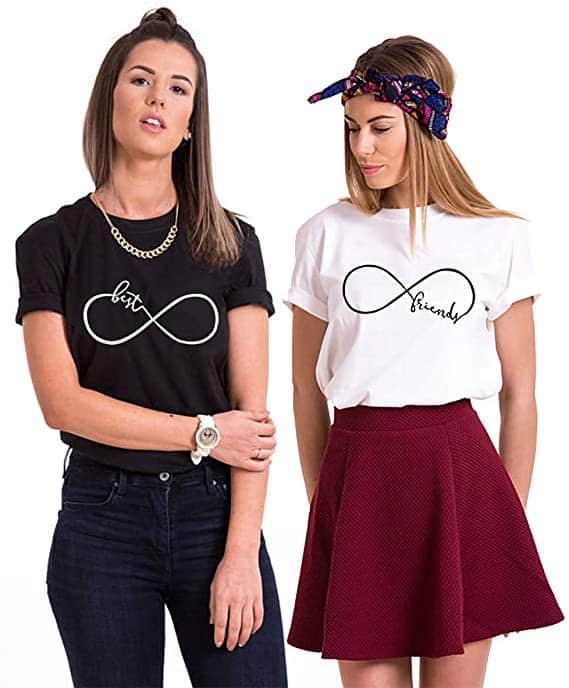Camisetas para mejores amigos y amigas