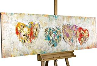 cuadro de corazones pintado