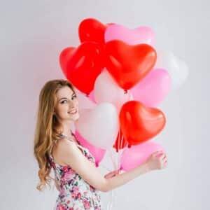 globo de corazon con helio