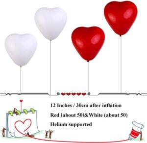 globo de corazones con helio