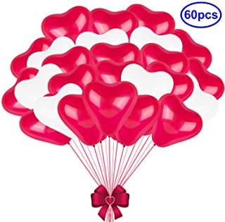 globos de corazones con helio